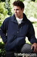 Fleece Jacket With Nylon Trim