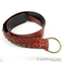 fashion braided pu belt for lady