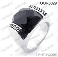 Fashion Men Ring with Black Stone, brand new 2012, hot sale in market