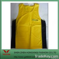 2012 Newest 100% Polyester Dry Fit yellow Tank Tops w/ contrast color