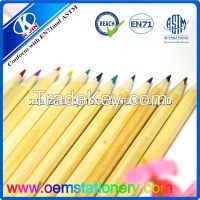 24 color pencil natural wood color pencil
