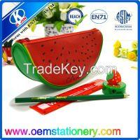 New fruit shaped pencil case/pu material pencil bag
