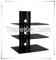 2 Shelf Glass DVD Wall Mount, DVD Bracket,DVD racks