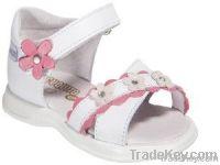 Leather toddler girl sandal shoe