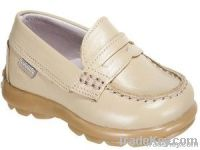 Leather toddler dress shoe
