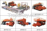 Red clay brick machine