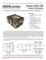 Kratos Radar Altimeter 4503-100