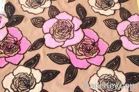 premium design flock on flock sofa fabric