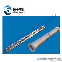 counter-rotating parallel twin screw and barrel/cylinder for extruder