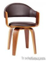 Leather and Bentwood Bar Stool