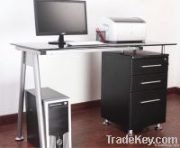 Glass Top Computer Desk Computer Table