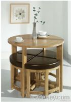 Solid Wood Dining Chair and Dining Table Set