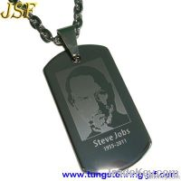 Steve Jobs tungsten dog tag, tungsten pendants