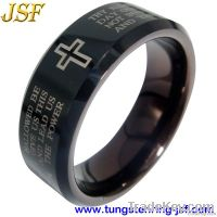 Golden Mens Tungsten Wedding Ring