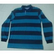 Men's Yearn Dyed Long Sleeve Polo Shirt