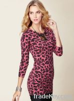 women' sexy Leopard grain skirt, dress