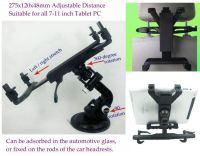 7-11 Inch Tablet PC PDA Multi-Use Adjustable Car Mounting Bracket,Adsorbed on Car Glass, Fixed in Car Headrest Rods