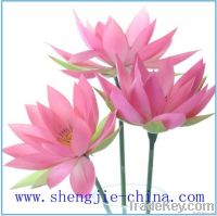 2012 new design decoration artificial single PU lotus flower