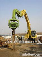 Sheet pile Excavator mounted hammer V-250D