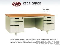 KD metal office furniture computer tables (1.2m-1.6m)