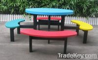 picnic table and chair, metal garden table sets, steel furniture set