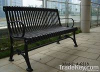metal bench with cast iron legs