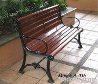 park bench for public spaces