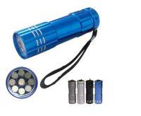 Super Bright Promotion 9 Led Flashlight Aluminum