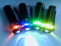 Super Bright Colorful Zoomable Cree Q5 Led Flashlight