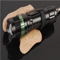 Hot Sales Zoomable Cree Q5 Police Flashlight