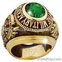 class ring, military bull ring, championship ring