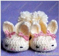 crochet baby/infant first walk shoes