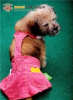 Hot Selling Pink Dog Clothes, Pink Jeans Pet Skirt