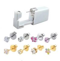 316l Surgical Steel Sterilized Disposable Ear Piercing Units With CZ Earrings
