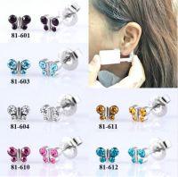 Butterfly design Sterile Disposable Ear Piercing Unit Gun For Cartilage Tragus