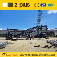 Easy moving wheel type YHZS25 portable concrete batching plant