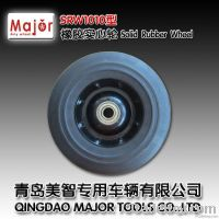 high quality solid rubber wheel for trolley