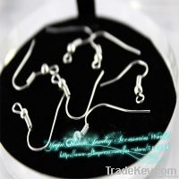 "16mm/0.63"" Sterling Silver earrings polish hook coil earwire wholesale"