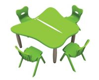 kid plastic tables and chairs in set, kindergarten study table for sales