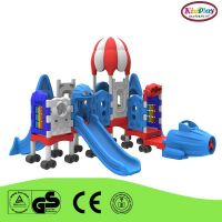 small outdoor plastic slide playground
