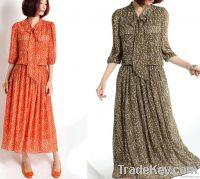 ladies' casual dress, long maxi dress, chiffon dress, evening dress