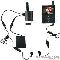 Wireless Full Duplex Two Way Radio Transceiver with Spy Camera