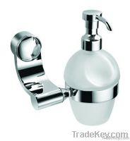 Liquid soap dispenser rack