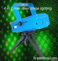 Sound control and Remote control mini laser stage light for disco dj
