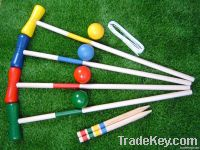 Outdoor Child Croquet Game set/Mallet toy
