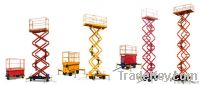 Four Wheels Mobile Hydraulic Scissor Work Platform