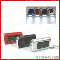 Solar Keyring with 2pcs LED torch