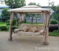 Luxury steel hammock swing bed, gazebo