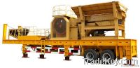 Tire mobile jaw crushing plant
