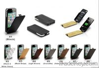 newest and fashion Power case for iphone 4s with leather cover
